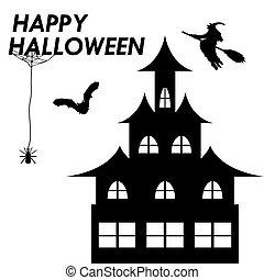 Card invitation for Halloween white background illustration