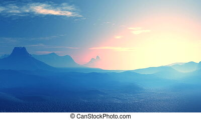 Beautiful Sunset in the Blue Mountains - Mountain and...