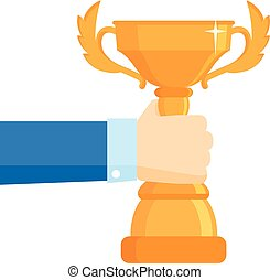 Winner award vector illustration. Business goal achievement...