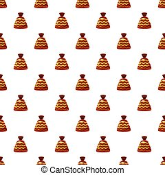 Chocolate candy pattern seamless repeat in cartoon style...