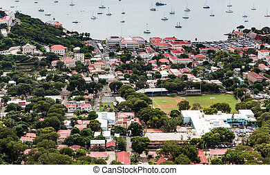 Charlotte Amalie St Thomas from Above - City of Charlotte...