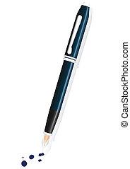 Fountain pen vector illustration.