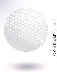 Golf ball vector illustration - Vector illustration of a...