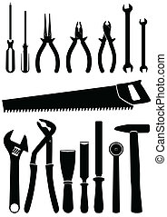 Illustration of tools - Vector illustration set of different...