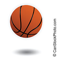 Basketball vector illustration - Vector illustration of a...