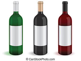 Illustration of bottles.