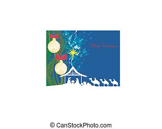 birth of Jesus in Bethlehem - abstract card