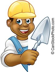 Builder Bricklayer Construction Worker Trowel Tool - A...