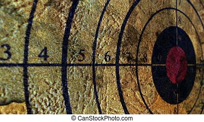 Close up of grunge target