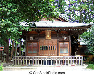 Iida, Nagano, Japan - Osahime Shrine in Iida City, Nagano...