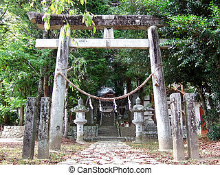 Achi Village, Nagano, Japan - Afuchi Shrine in Achi Village,...