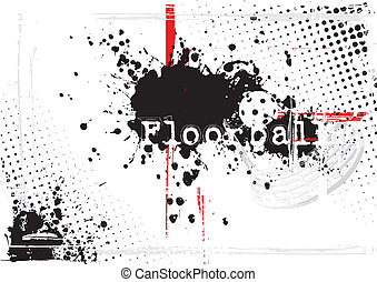 floorball background - floorball on the grunge background