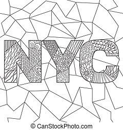 NYC coloring pages for adults