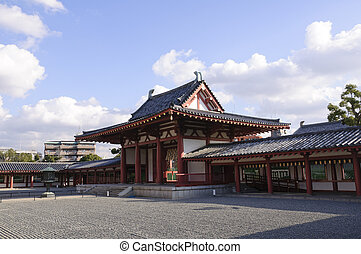 Osaka, Japan - Shitennoji Tempel in Osaka, Japan