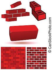 Brick & wall vector illustration.