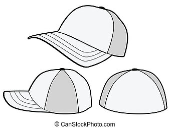 Baseball hat vector template - Vector illustration template...