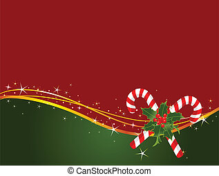 Christmas candy cane background - Christmas background with...