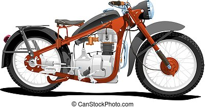 motocycle - Vector color illustration of motorcycle. Simple...