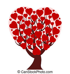heart tree isolated on white backg