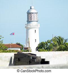 lighthouse, San Pedro de la Roca Castle, Santiago de Cuba...