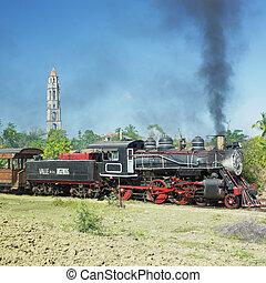 tourist train Valle de Los Ingenios, Manaca Iznaga, Sancti...