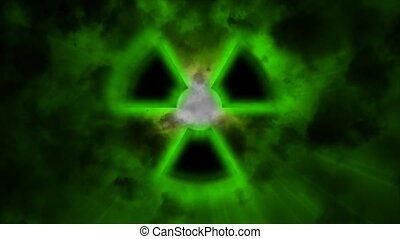 sign of radioactivity. A radioactive sign emits radiation...