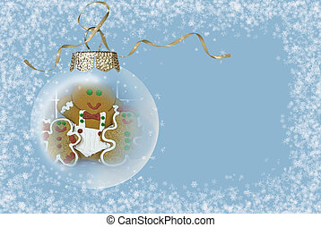Gingerbread Man Ornament - Gingerbread man in a Christmas...