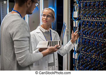 Young Computer Scientists - Portrait of young man and woman...
