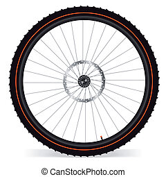 Bike wheel - vector illustration on white background. EPS 8