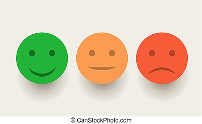 Smiley icon set. Emoticons positive, neutral and negative....