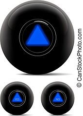 Magic ball isolated on white. Vector illustration.