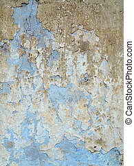 Weathered cracked plaster - grunge texture - Detail of the...
