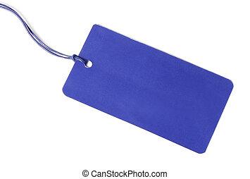 Blue Blank tag