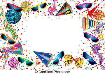 colorful party carnival birthday celebration background with...