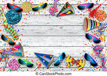 colorful party carnival birthday celebration background -...