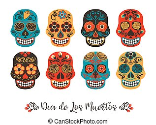 Dia de los muertos. Day of The Dead. Vector illustration of...