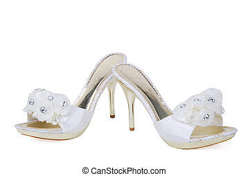 bridal shoes - this is a beautiful white high heel ladies...