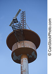 Meteorological tower station - Bottom view of meteorological...