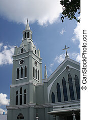 Catholic Church in Puerto Rico - Historic Catholic church on...