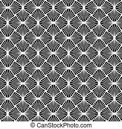 Seamless Art Deco Vector Pattern - Abstract Seamless Black...