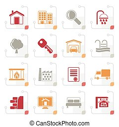Stylized Real Estate Icons
