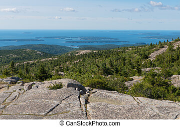 Cadillac Mountain overlook - Looking down from the summit of...