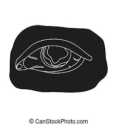 Eye single icon in black style.Eye, vector symbol stock...