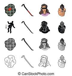 Crime scene, scrap, picklock, girl hostage, directed gun in...