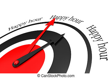 happy hours written around a clock