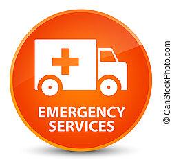 Emergency services elegant orange round button - Emergency...