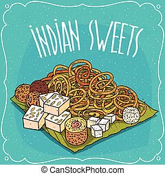 Traditional popular sweets of Indian cuisine - Traditional...