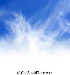 Beautiful blue sky, white clouds. Perfect for background.