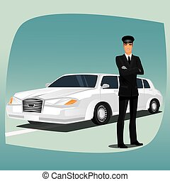 Chauffeur of limousine or lincoln - Chauffeur, driver of...