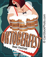 Poster with woman at Oktoberfest